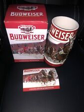 *Never Used* Budweiser 2018 Holiday Stein, 31-ounce Boxed with COA
