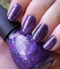 NEW! SINFUL COLORS Nail Polish Lacquer in FRENZY ~ Purple Teal Glitter Mix
