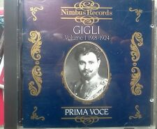 Beniamino Gigli – Prima Voce: Beniamino Gigli, Volume 1 - CD COME NUOVO (MINT)