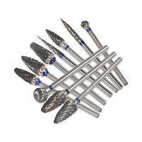 10 Pcs/box Dental Lab Clinic HP Tungsten Carbide Steel Burs Cutters 2.35mm Burrs