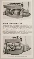 1953 Print Ad Magazine Photo Universal Marine Engines Unimite Four,Six Commodore