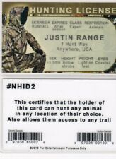 fun novelty gift item for a Hunter - a fake id card - hunting license