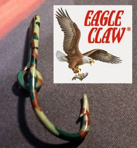 ORIGINAL CAMO EAGLE CLAW 155a CAP Hook Hat Pin, Fish Hook Clasps money clip USA