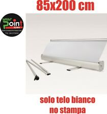 ESPOSITORE ROLL UP ROLLUP BANNER 85X200 NO STAMPA SOLO BIANCO  BORSA MONTAGGIO.