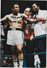 MUHAMMAD ALI SIGNED IN RING 4X6 PHOTO AUTOGRAPHED JSA LOA