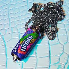Handmade WONKA RAINBOW NERDS NECKLACE miniature food CANDY retro SWEETS mini