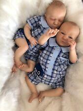 """Muñeco ® Louis (Logan despierto) y Logan Gemelos Bebé Niño Reborn Doll 20"""" 5LB 2OZ Reino Unido"""