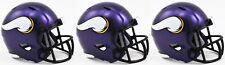 3-pack MINNESOTA VIKINGS NFL Football Helmet CHRISTMAS TREE ORNAMENT