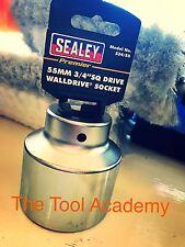 SEALEY CHROME VANADIUM SOCKET 55mm 3/4 DRIVE - 12 POINT - BI-HEX