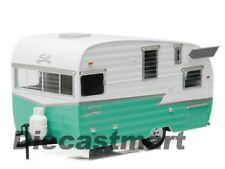 GREENLIGHT 1:24 18227 SHASTA 15' AIRFLYTE CAMPER TRAILER DIECAST MODEL GREEN NEW