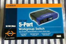 Linksys 5-Port Workgroup Switch Ezxs5W Wired preowned in box