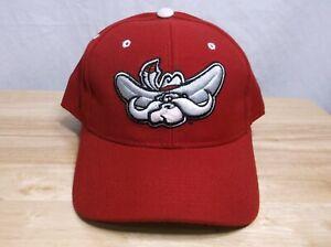 UNLV Running Rebels Zephyr Fitted Red Hat Cap 7 1/8 Mascot Logo NCAA