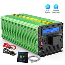 Edecoa 3000W 6000W dc 24V to ac 110 120V car automotive Power Inverter Lcd cable