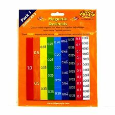 Decimals for KS1 Learning Numbers Maths using Magnetic Tiles Rods