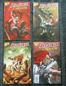 LOT OF 4 RED SONJA VS THULSA DOOM 1 2 3 4 DYNAMITE COMICS NM NEAR MINT 9.4 2006