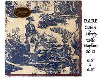 Vtg Decorative Patriot ic Pattern Old Paper Napkins Decoupage Blue Wht USA Flag