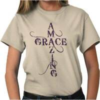 Amazing Grace Religious Christian Strong Jesus Christ God T Shirt Tee