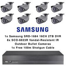 SAMSUNG videocamera esterna per 8 Proiettile KIT 16CH DVR 2 TB antivandalo analogico 1080p