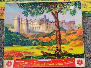 Vintage Philmar Famous Castles Arundel Castle Jigsaw Puzzle complete inc leaflet