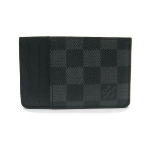 LOUIS VUITTON Neo Porto Cult Card holder N62666 Damier Graphite Grey Used LV