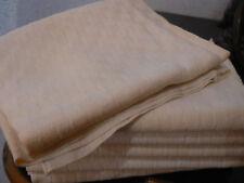 6 anciennes serviette coton damassé damier