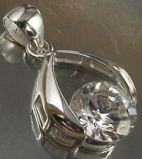 925 STERLING SILVER clear CZ beautiful CHARM PENDANT