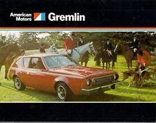 American Motors AMC Gremlin 1974 UK Market Foldout Sales Brochure X Levis