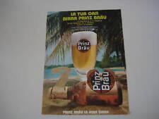 advertising Pubblicità 1974 BIRRA PRINZ BRAU
