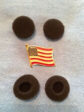 BLACK FOAM EARBUD EARPHONE HEADPHONE COVERS 2 PAIRS (4) iPod iPhone MP3 Player
