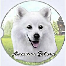 Es E & S Pets Absorbent Stoneware Car Cup Holder Coaster Gift American Eskimo