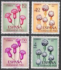 Colonias españolas Fernando Poo 1967 plantas de bienestar infantil Flora estampillada sin montar o nunca montada Fina 255 - 258
