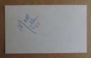 MATT MILLEN SIGNED AUTOGRAPH 3X5 INDEX CARD 4X SUPER BOWL CHAMPION RAIDERS 49ERS