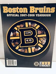 """Boston Bruins Official 2007-08 Yearbook """"The Hub Of Hockey"""""""