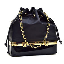 New Womens Handbags Leather Tote Shoulder Bucket Bags Rucksack Drawstring Purse