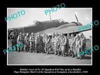 OLD LARGE HISTORIC MILITARY PHOTO WWII BRITISH RAF No 83 BOMBER SQUADRON c1940