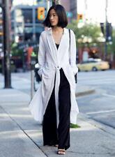 H&M Long Flowing Maxi Summer Tie Wrap Front Shirt Dress Loose UK 16 EU 42 US 12