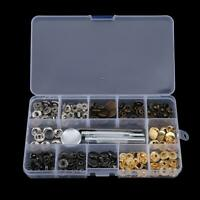 40PCS for Snap Kit Snaps Fastener Button Press Stud +Hole Punch Setting Tool Pro