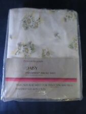 Vintage Sears Perma-Prest Percale Daisy Twin Flat Sheet - Unopened