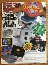 Clayfighter Tournament SNES Genesis 1994 Vintage Game Poster Ad Print Art Rare