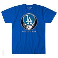 GRATEFUL DEAD-LOS ANGELES DODGERS-STEAL YOUR BASE-TSHIRT S-M-L-XL-2X Garcia,Wier