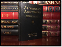 Alcoholics Anonymous New Sealed Deluxe Hardcover Leather Bound Gift Edition A/A