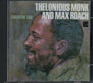 THELONIOUS MONK AND MAX ROACH - European Tour - CD Album *Japan Import (No OBI)*