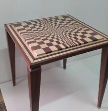 Tavolino in legno massello di noce nazionale e acero