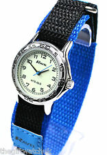 Ravel Boys Kids Luminescent Face Watch Blue Fast Fit Strap with NITE-GLO TEXT