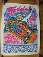 Pearl Jam Poster Silk Screen Amsterdam June 27 Creepy Skateboarder Ziggo Dome