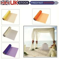 26m X 29cm Organza Sash Roll Fabric Sheer for Wedding Party Table Runner Chair