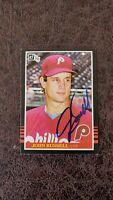 1985 Donruss John Russell rookie #648- Philadelphia Phillies - Autographed!