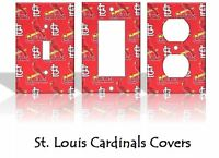 St. Louis Cardinals #2 Light Switch Covers Baseball MLB Home Decor Outlet