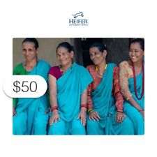 $50 Charitable Donation HEIFER INTERNATIONAL: Share of Women's Business Toolkit