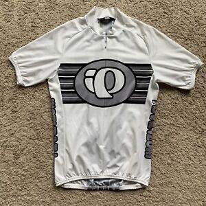 Pearl Izumi Cycling Jersey Bike Shirt Mens Medium White Snag EV09